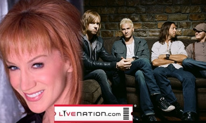 Live Nation - Universal City: Ticket to Kathy Griffin or Lifehouse at the Gibson Amphitheatre.  Choose Between Two Options.