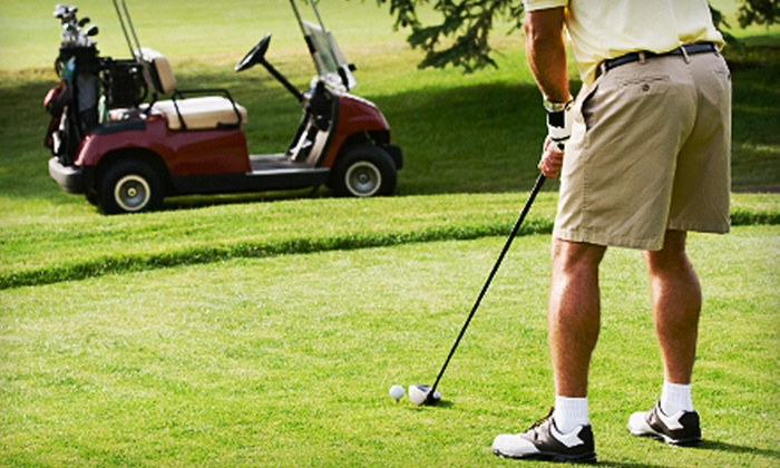 Perry Country Club - Perry: 18-Hole Round of Golf for Two or Four Plus Range Balls and One-Month Membership at Perry Country Club (Up to 82% Off)