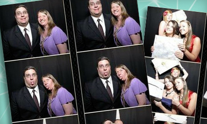 motion pictures photobooths - Dallas: Three- or Five-Hour Photo-Booth Rental with Prints and Image CD from motion pictures photobooths (Up to 71% Off)