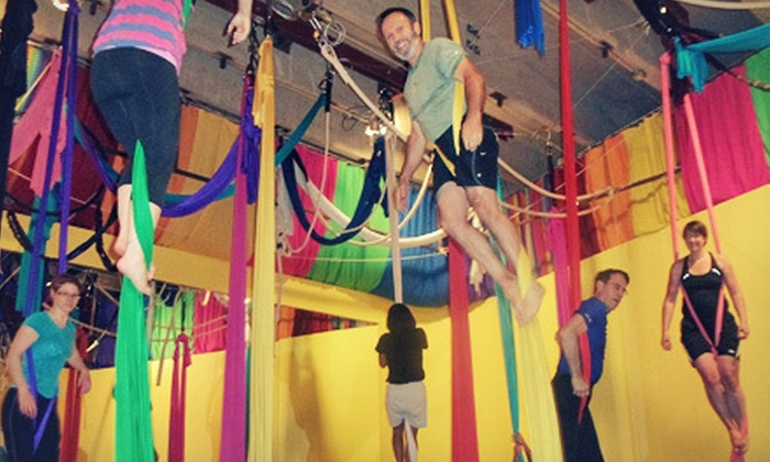 Learning2Fly - Mission: Two or Three 75-Minute Aerial Fitness Classes at Learning2Fly (Up to 52% Off)