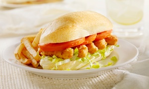 Po Boys Seafood & Grill: Sandwiches and Seafood at Po Boys Seafood & Grill (Up to 35% Off). Two Options Available.
