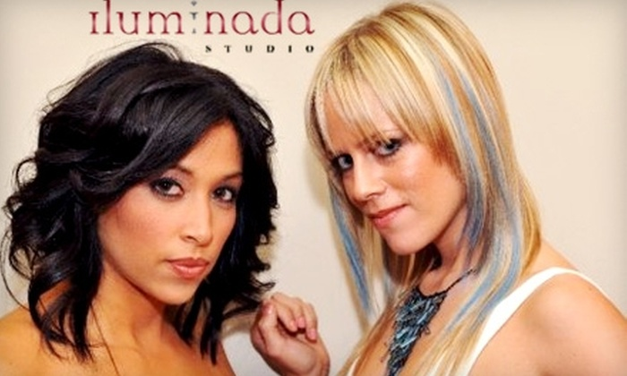 Iluminada Studio - Englewood: $35 for a Manicure and Pedicure Plus a Promotional Hair Blow-Dry at Iluminada Studio ($70 Value)
