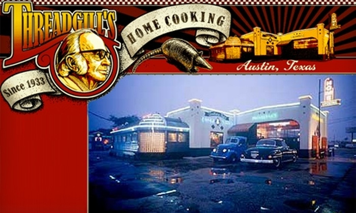 Threadgill's - Multiple Locations: $12 for $25 Worth of Southern Home Cooking at Threadgill's