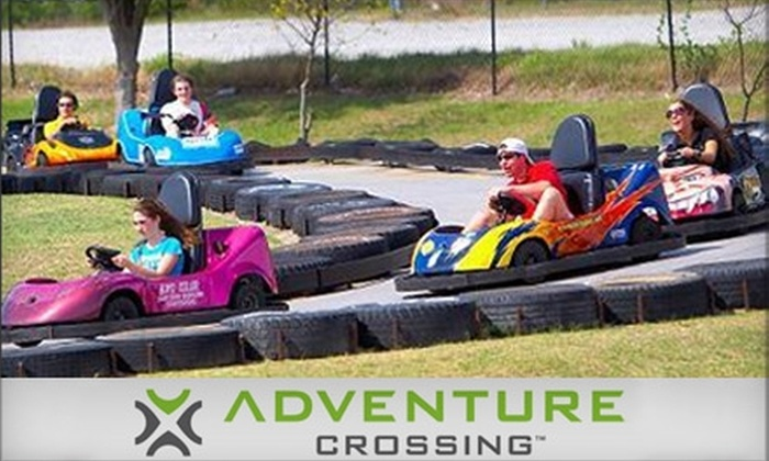 Adventure Crossing Family Fun & Sports Park - Evans: $10 for $20 worth of Attractions & Gaming at Adventure Crossing Family Fun & Sports Park