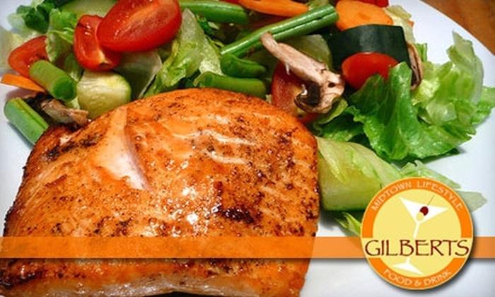 Gilbert's Cafe & Bar - Midtown: $12 for $25 Worth of Dinner Fare at Gilbert's Cafe & Bar (or $7 for $14 Toward Lunch)