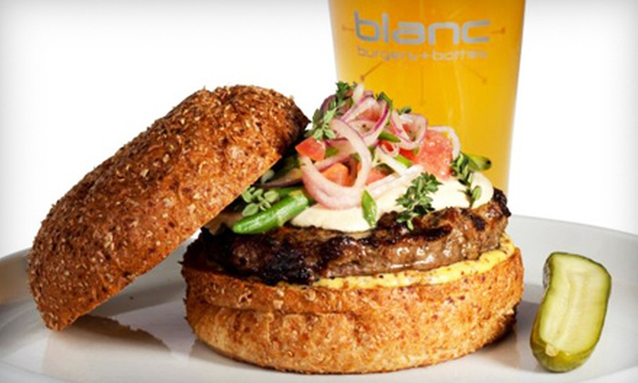 Blanc Burgers + Bottles - Midtown: $7 for $14 Worth of Gourmet Burgers and Drinks at Blanc Burgers + Bottles