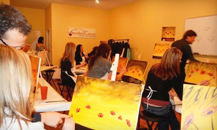 Uncorked Canvas - Gig Harbor: Adult or Children's Painting Class at Uncorked Canvas. Two Options Available.