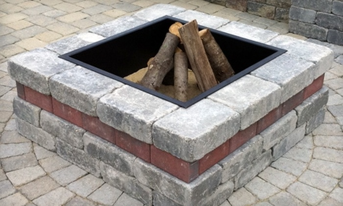 Unilock - Multiple Locations: Outdoor Fire Pit Kit from Unilock. Two Options Available.