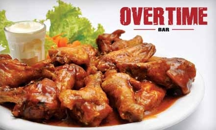 Overtime Bar and Grill - Sand Ridge: $7 for $15 Worth of Burgers, Sandwiches, and Beers at Overtime Bar and Grill