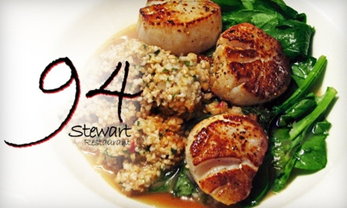 94 Stewart - Seattle: $25 for $55 Worth of Market-Fresh Fare at 94 Stewart