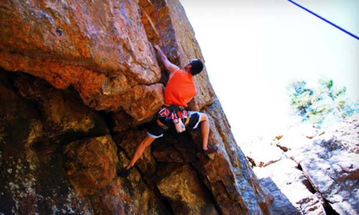 Rock Ratz - Northwest Colorado Springs: Half-Day Rock-Climbing Trip for One, Two, or Four People from Rock Ratz