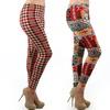 Plus Size Fleece-Lined Printed Leggings