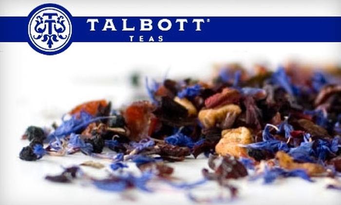 Talbott Teas: $10 for $25 Worth of Teas and More from Talbott Teas