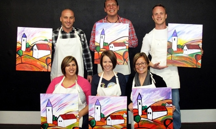 Paint Along Studios - Downtown: $19 for a Painting Class at Paint Along Studios (Up to $37.45 Value)