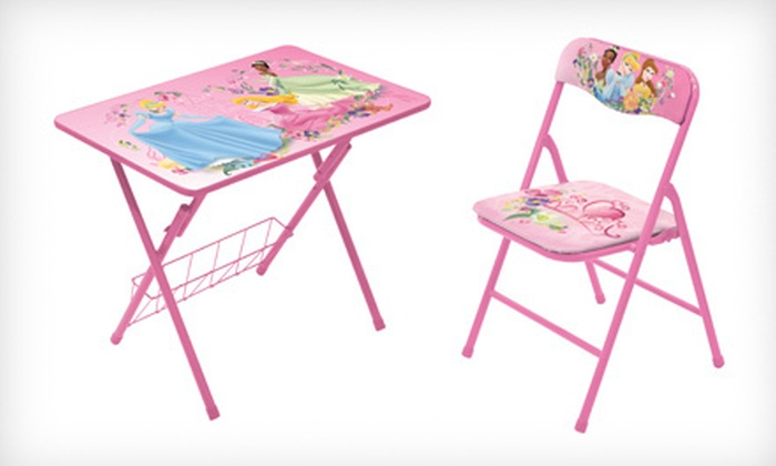 Children S Activity Desk Amp Chair Groupon Goods