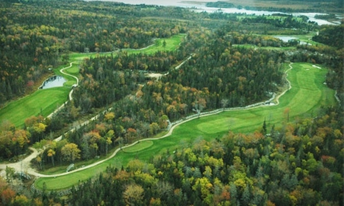 River Hills Golf and Country Club - Clyde River: $45 for Two Green Fees, Power-Cart Rental, and a $10 Voucher for Clubhouse Fare and Drinks at River Hills Golf and Country Club in Clyde River (Up to $95 Value)