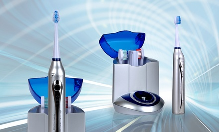 Pursonic Deluxe Sonic Toothbrush with 12 Brush Heads and UV Sanitizer.