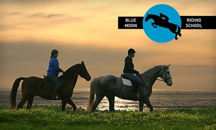 Blue Moon Riding School - Half Moon Bay: $100 for Two-Hour Horsemanship Intro and Riding Session for Two at Blue Moon Riding School in Half Moon Bay ($240 Value)