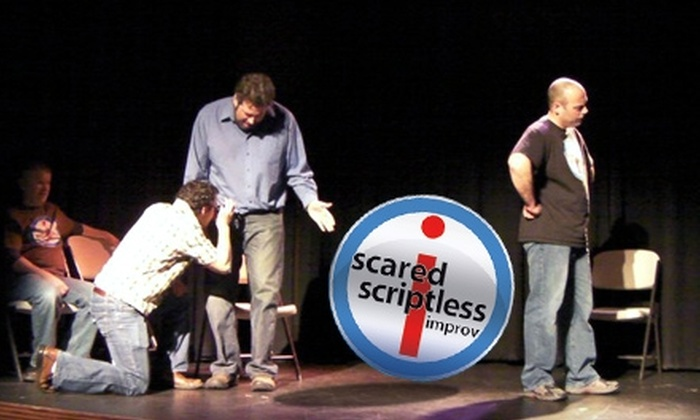 Scared Scriptless - Multiple Locations: $9 for Two Tickets to Improv Comedy Show from Scared Scriptless (Up to $18 Value)