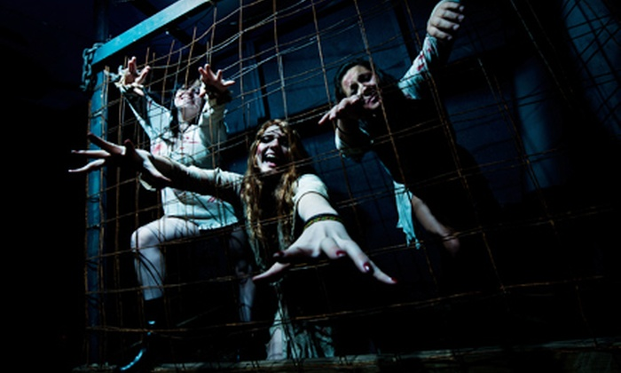 St. Lucifer's Haunted Asylum & 13 Feet Under - Playland Park: VIP Tickets to Two Haunted Houses for Two, Four, Six, or Eight People at Playland Park in Flint
