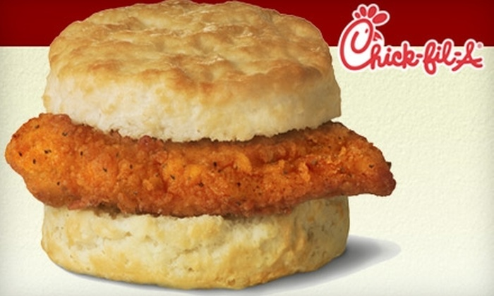 Chick-fil-A - Downtown Jackson: $2 for Two Spicy Chicken Biscuit Sandwiches at Chick-fil-A ($4.99 Value)