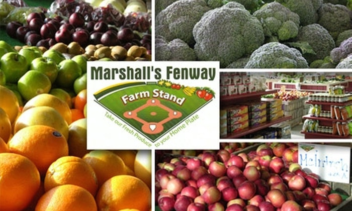 Marshall's Fenway Farm Stand - Fenway/Kenmore: $10 for $20 Worth of Fresh Produce and Local Treats at Marshall's Fenway Farm Stand
