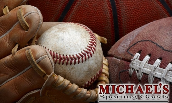 Michael's Sporting Goods - Franklin Lakes: $20 for $50 Worth of Sporting Equipment, Footwear, and Apparel at Michael's Sporting Goods