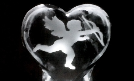 Heart-Shaped Ice-Centerpiece Dish (a $30 value) - Masterpiece Ice Sculptures, Inc. in Asheville