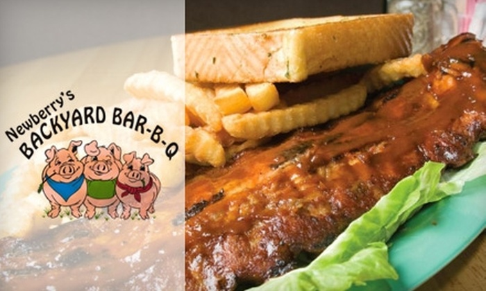 Newberrys Backyard BBQ - Newberry: $12 for $25 Worth of Barbecue Fare at Newberry's Backyard BBQ