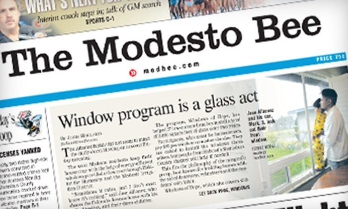 "Modesto Bee - Modesto: $10 for a 26-Week Subscription to the ""Modesto Bee's"" Sunday Edition ($26 Value)"