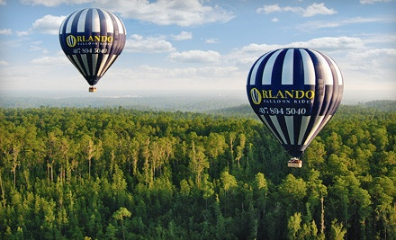 Hot Air Balloon Ride for 1 Adult with Breakfast and Champagne (a $175 value) - Orlando Balloon Rides in Kissimmee