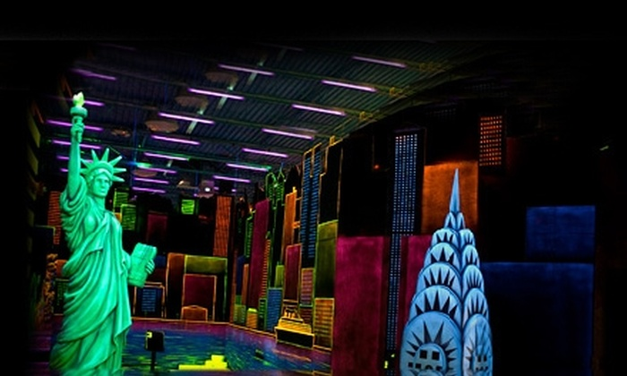 Zap Zone - Multiple Locations: $12 for Two Rounds of Mini Golf and Two Glo-Bright Necklaces at Zap Zone ($24 Value)