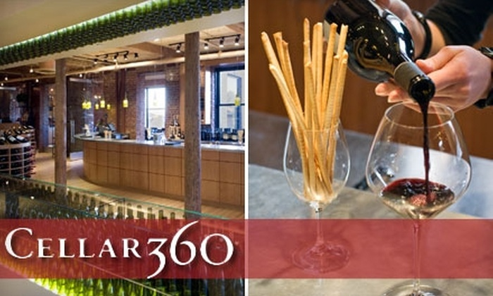 Cellar360 - Russian Hill: $25 for a Wine and Cheese Tasting for Two and Handcrafted Cheese Board at Cellar360