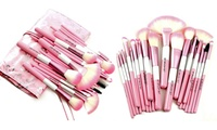 Babylicious Pink Heart Makeup-Brush Set with Case (25-Piece)
