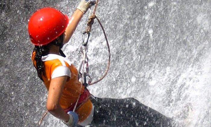 Northeast Mountaineering - Bunkhouse: Full-Day Waterfall Rappelling Adventure from Northeast Mountaineering (Up to 60% Off). Four Options Available.