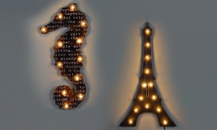 Light Up Wall Art light-up silhouettes wall art | groupon goods