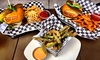 Carrollton Chop Shop Sports Garage - Southwest Carrollton: Burgers at Carrollton Chop Shop Sports Garage (Up to 45% Off). Two Options Available.