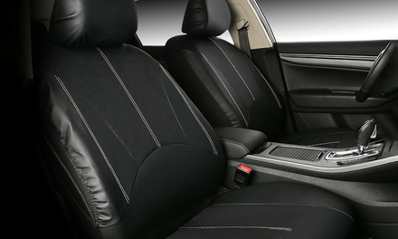 PU Leather Universal Car Seat Cover Set: Four-Piece ($29.95) or Nine-Piece ($49.95)