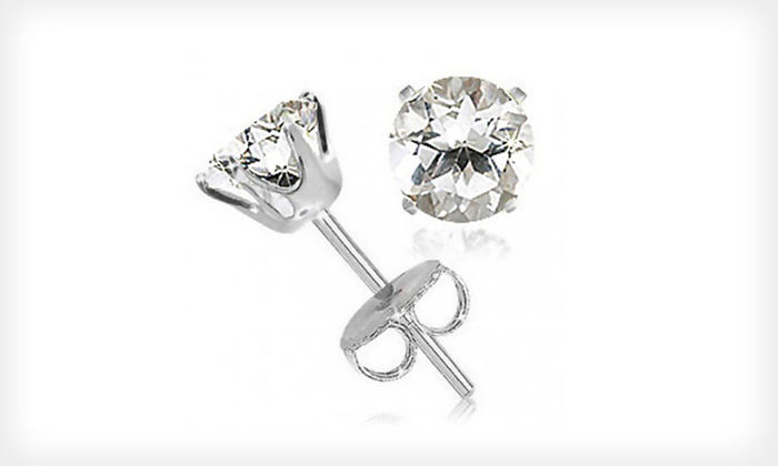 2-Carat White-Topaz Stud Earrings: $9 for a Pair of 2-Carat White-Topaz Stud Earrings ($99.99 List Price). Free Shipping.