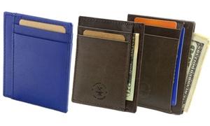 Hammer Anvil Minimalist Leather Front Pocket Wallet Card Case