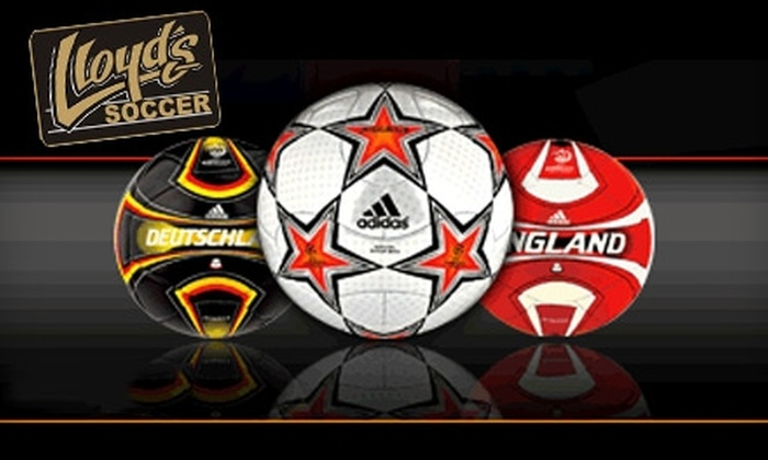 Lloyd's Soccer - Mount Pleasant: $20 for $50 Worth of Footwear and Apparel at Lloyd's Soccer