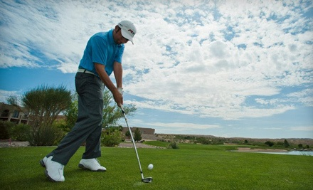 18 Holes of Golf, Cart Rental, and Bucket of Balls for Two (a $96 value) - Sierra Del Rio Golf Course in Elephant Butte