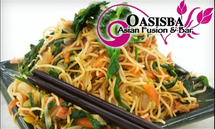 Oasisba Asian Fusion & Bar - Northwest District: $15 for $30 Worth of Food and Drinks at Oasisba Asian Fusion & Bar