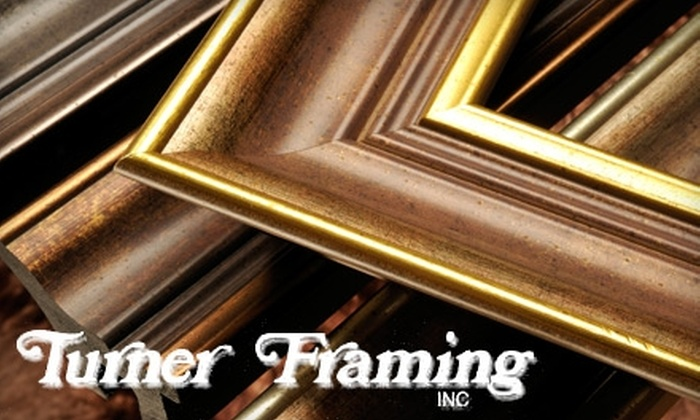 Turner Framing - Multiple Locations: $60 for $120 Toward Custom Framing at Turner Framing