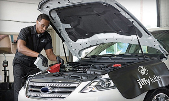 Heartland Automotive Services Jiffy Lube - Multiple Locations: $40 for a Signature Oil Change, Graphite Wiper Blades, and Windshield Treatment at Jiffy Lube ($86.98 Value)