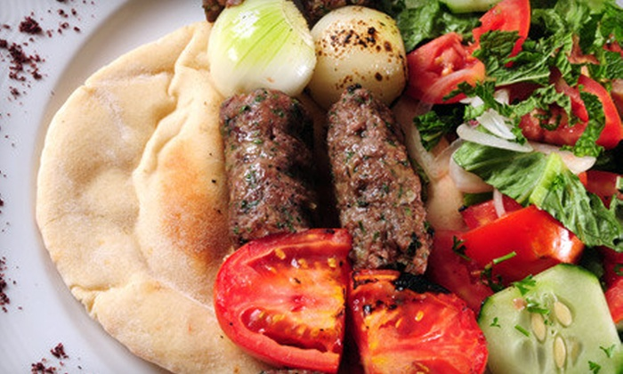 Aegean Turkish Restaurant - Upper East Side: $35 for Two-Person, Two-Course Mediterranean Meal with Bottle of Wine (Up to $89.90 Value)