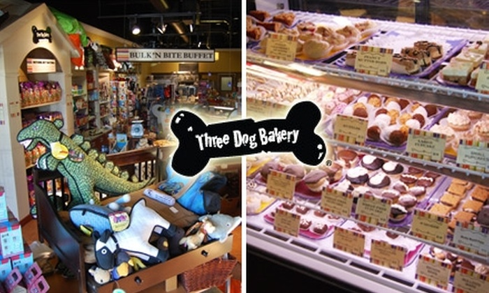 Three Dog Bakery- Southlake - Multiple Locations: $15 for $30 Worth of All-Natural, Fresh-Baked Eats and Treats for Your Pooch at Three Dog Bakery