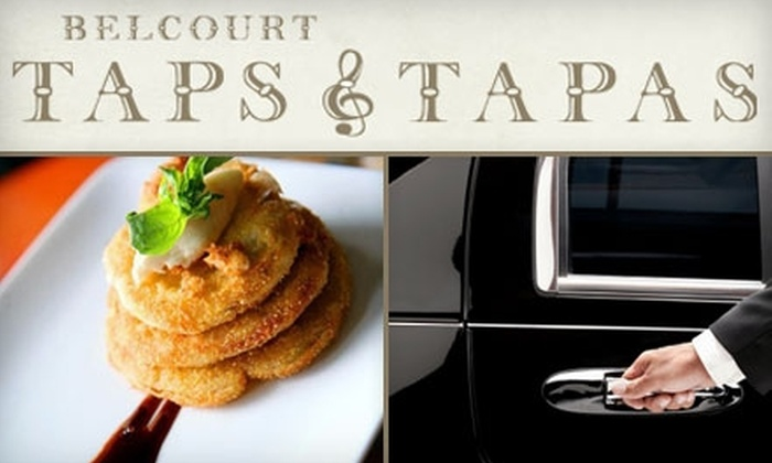 Belcourt Taps & Tapas - Hillsboro West End: $89 for a Limo Ride to Dinner for Two at Belcourt Taps & Tapas ($219 Value)