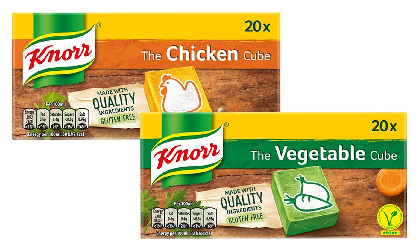 Pack of 240 Knorr Chicken or Vegetable Stock Cubes 200g