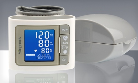 Pulse Wrist-Cuff Blood-Pressure Monitor in White.